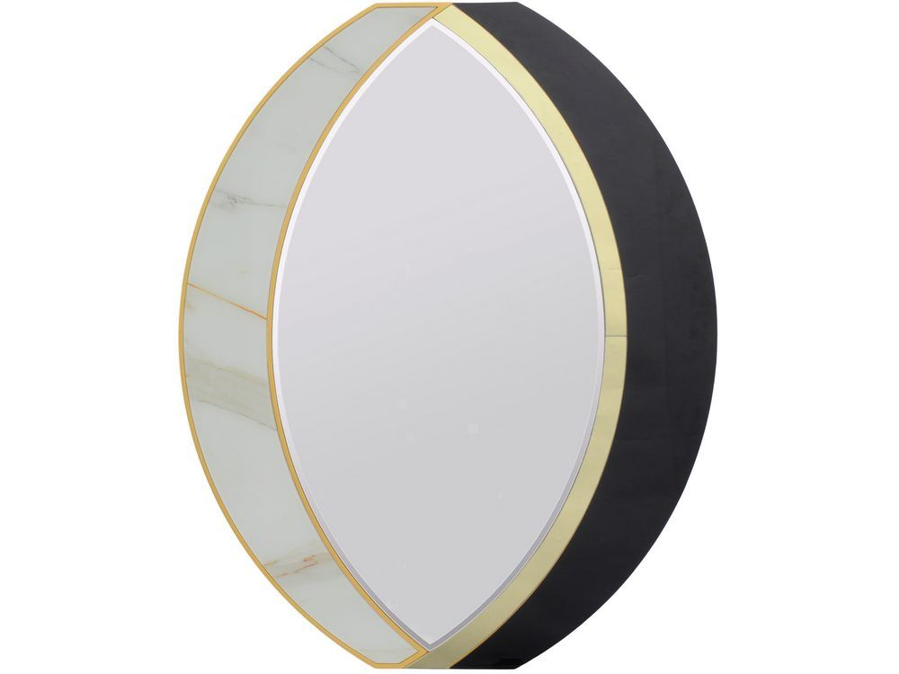 Oracle Oval Marble Mirror